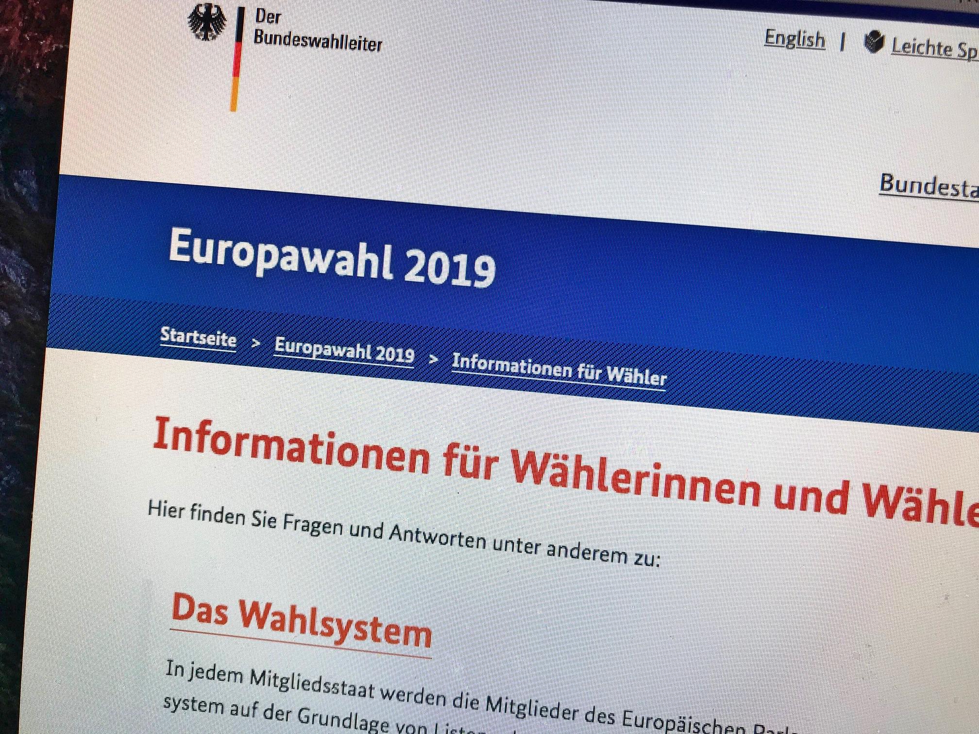 bundeswahlleiter europawahlen 2019