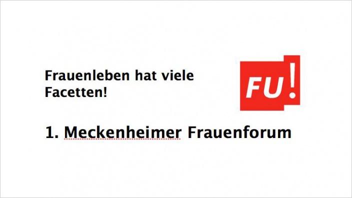 FU Meckenheim: Einladung zum 1. Meckenheimer Frauenforum am 19. November 2016