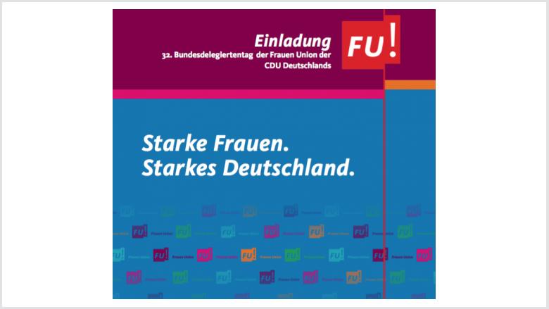 Bundesdelegiertentag der Frauen Union Deutschland in Braunschweig