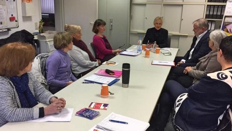 Das Thema Rente im Mittelpunkt: Roland Forst ist Rentenältester in Niederkassel, er informiert