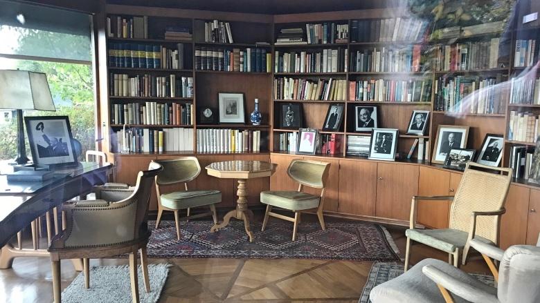 Das Arbeitszimmer des großen deutschen Politikers in einem eigenen Pavillon