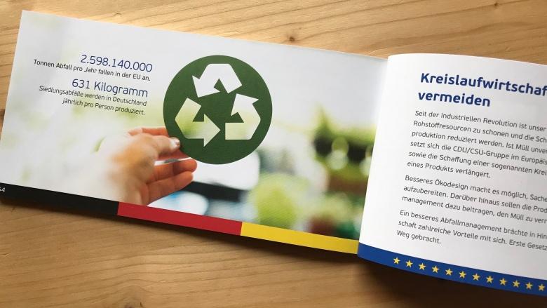 EU mit dem modernsten Abfallrecht der Welt: Kreislaufwirtschaft - Resourcen schonen und Abfall vermeiden
