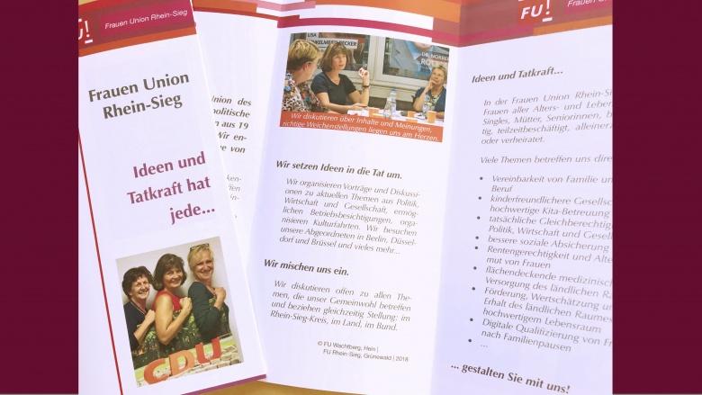 Informationen über uns: Infoflyer der Frauen Union Rhein-Sieg