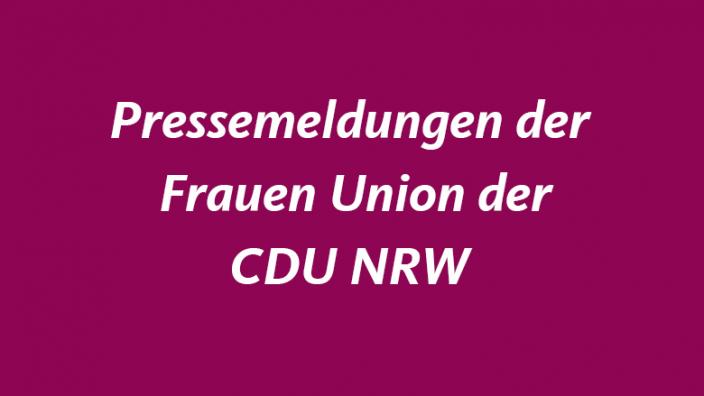Pressemeldungen der Frauen Union der CDU NRW