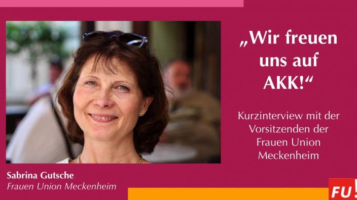 Sabrina Gutsche und das Vorstandsteam der Frauen Union Meckenheim freuen sich auf AKK!