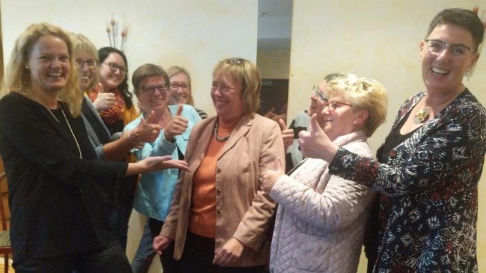 Klasse! Sie führt auch die kommenden Jahre die Frauen Union Siegburg: Anna Diegeler-Mai (Mitte)