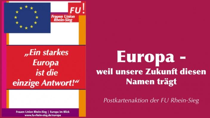 Postkartenaktion der Frauen Union Rhein-Sieg