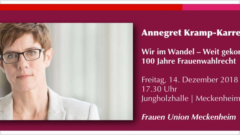 Die neu gewählte CDU-Vositzende spricht bei der FU Meckenheim.