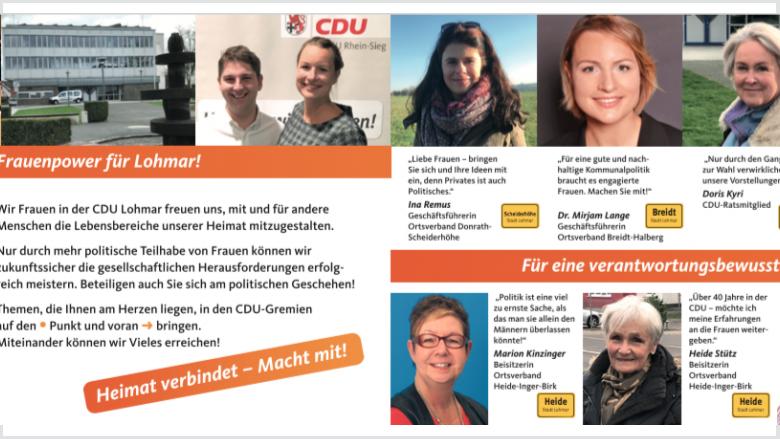 Wir stellen uns vor: Infoflyer der CDU-Frauen von Lohmar
