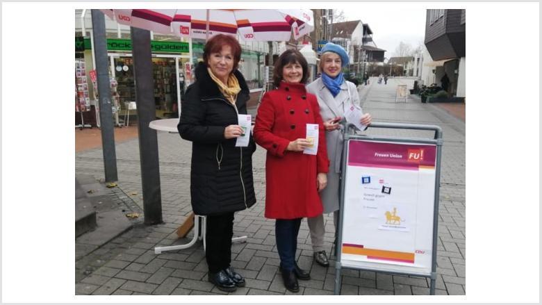 Appell der Frauen Union Meckenheim: Keine Gewalt gegen Frauen!