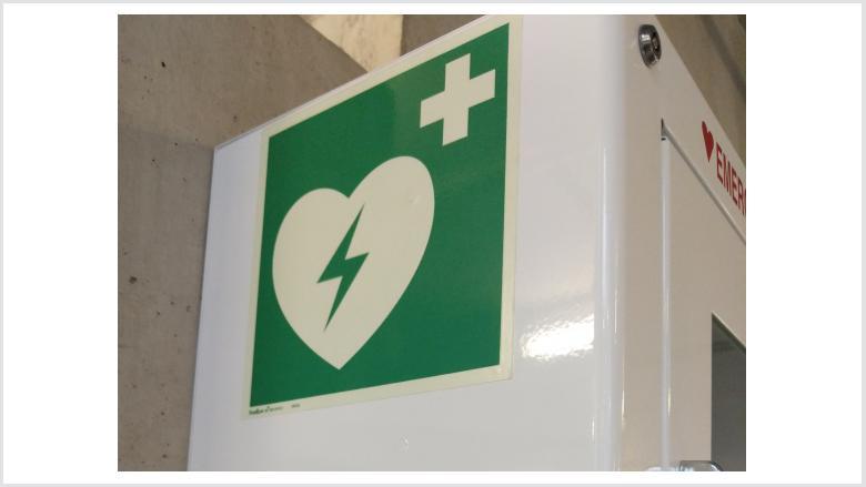 Internationales Logo für den Defibrillator