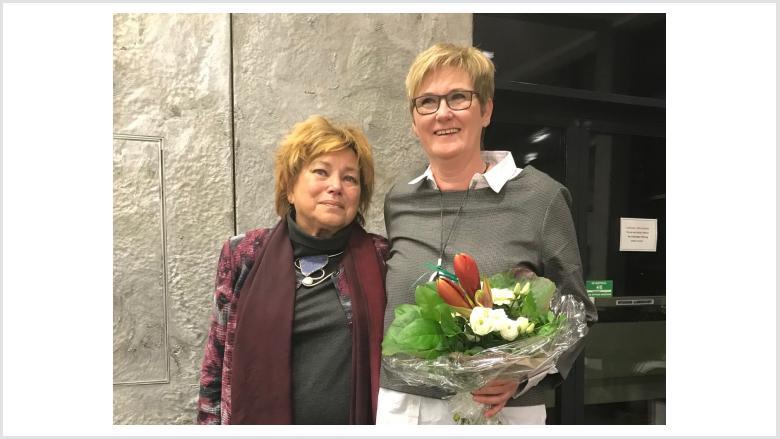Adieu Maria Theresia van Schewick (li.) und Dankeschön für 4 Jahre Leitung!