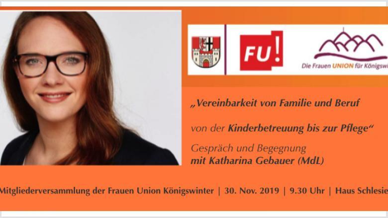 Herausforderung für Frauen: Beruf und Familie / Gespräch mit Katharina Gebauer in Königwinter