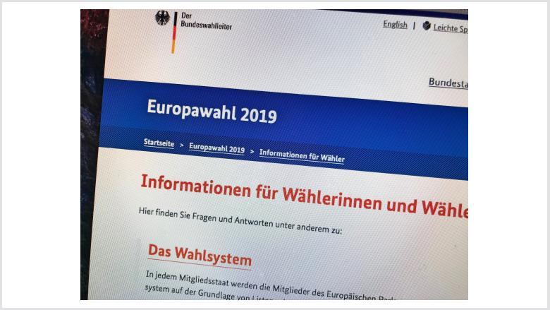 Europawahl des Europäischen Parlaments am 26. Mai 2019 in Deutschland