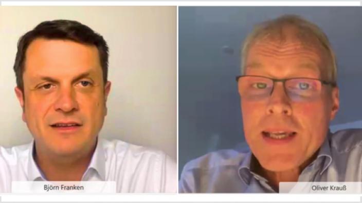 Björn Franken und Oliver Krauß stellten ihre Sichtweisen und Strategien dar