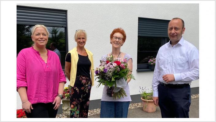 Petra Vogel-Jones hat das kreiseigene Frauenhaus in einer wichtigen Übergangsphase geleitet. Jetzt geht sie in Ruhestand.