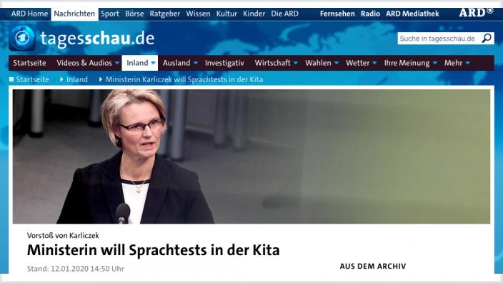 Bildungsministerin Anja Karliczek für Sprachtests in Kitas
